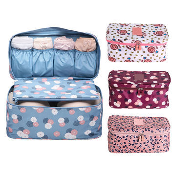 Portable travel underwear bra storage bag underwear panties storage box bag net bag wash bag