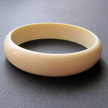 Vintage Bone Bracelet 40's Jewelry 1940 Wide Bangle SALE
