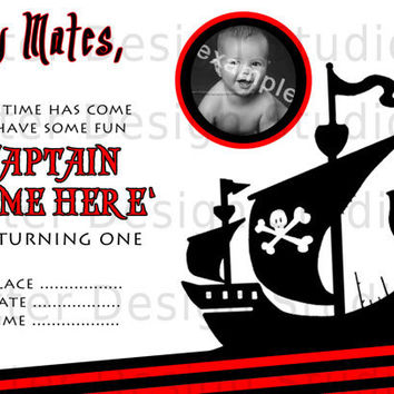 Pirate Birthday Party Invite - Printable