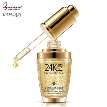 BIOAQUA 24K Gold Face Cream Whitening Moisturizing 24 K Gold Day Creams & Moisturizers 24K Gold Essence Serum New Face Skin Care