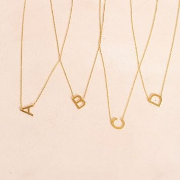 Kaye Gold Initial Necklace