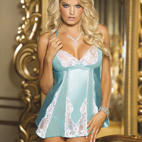 Addison Charmeuse & Lace Babydoll