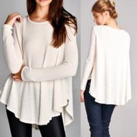 Thermal Flowy Tunic in Ivory