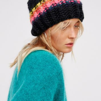 Free People Over The Rainbow Stripe Beanie