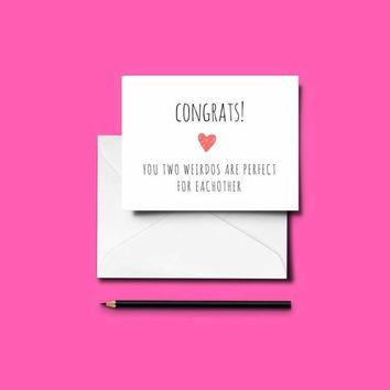 Funny ENGAGEMENT Card - Print-at-Home
