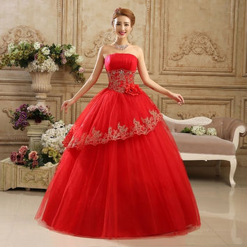 Fashionable Wedding Dress Embroidery Floor-Length Off-Shoulder Ball Gown Dress Bride Robe De Mariage Vestido De Noiva WNA11002 = 1929664452