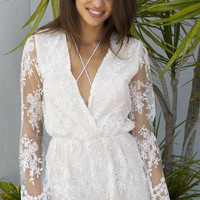 Playsuit Yourself Ivory Lace Romper