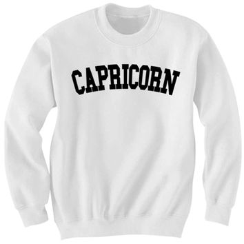 CAPRICORN SWEATSHIRT TEAM CAPRICORN SHIRT ZODIAC SIGN SHIRTS COOL SHIRTS HIPSTER CLOTHES GIFTS FOR TEENS BIRTHDAY GIFTS CHRISTMAS GIFTS from CELEBRITY COTTON