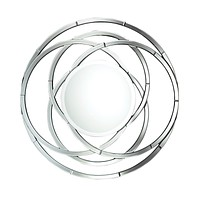 Large Round Wall Mirror with Contemporary Mirror Frame