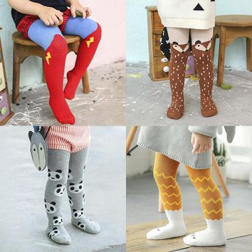 CN-RUBR New Cartoon Baby Tights Cute Fox Infant Pantyhose Soft Cotton Newborn Boys Girls Clothes Spring Toddler Stocking