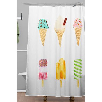 Laura Redburn Ice Cream Selection Shower Curtain