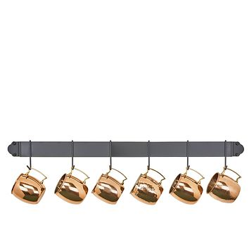 Bar Rack with Hooks Available in 2 Sizes and 4 Finishes