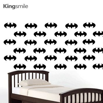 Batman Dark Knight gift Christmas 50 pieces/set Batman Logo Wall Stickers Decals Removable DIY Nursery Vinyls Poster Art Sticker for Baby Kids Rooms Home Decor AT_71_6