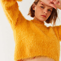 Silence + Noise Molly Fuzzy Cropped Sweater | Urban Outfitters