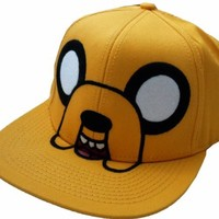 Adventure Time Jake Men's Yellow Adjustable Flatbill Hat