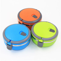 Creative Candy colors lunch  stainless steel Dinnerware Portable thermal Storage  Keep Food Warm Container For School Office Box