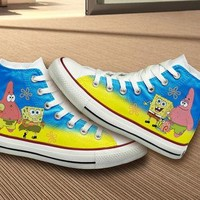 Spongebob Converse Shoes
