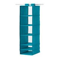 """SKUBB Organizer with 6 compartments, turquoise - 13 ¾x17 ¾x49 ¼ """" - IKEA"""