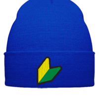 jdm logo embroidery hat png - Beanie Cuffed Knit Cap