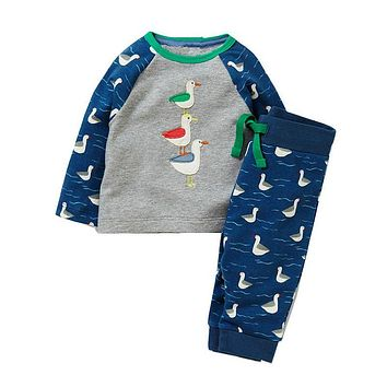 Children Clothing Sets Boys Clothes Kids Back to School Outfit Baby Boy Clothing Tracksuit with Animal Applique