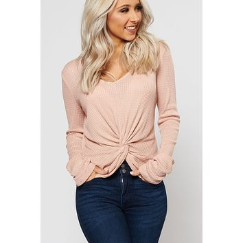 Out Of Here Knot Front Top (Natural)