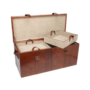 Vintage Style Leather Trunk