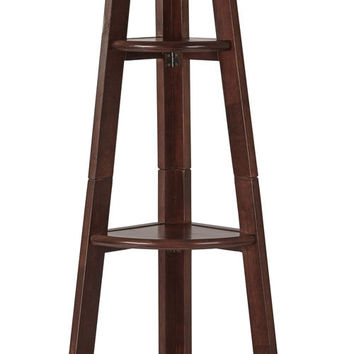 OSP Designs Corner Ladder Bookcase with 5 Storage Shelves - Espresso
