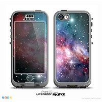 The Colorful Neon Space Nebula Skin for the iPhone 5c nüüd LifeProof Case