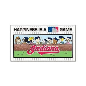 CLEVELAND INDIANS PEANUTS GANG HAPPINESS IS A GAME COLLECTOR PIN NEW WINCRAFT