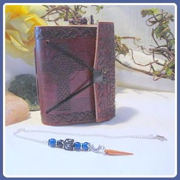Sagittarius Moon & Stars Pendulum & Journal Set
