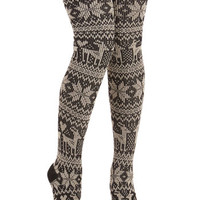 ModCloth Woodland Creature Snow 'Em What You Got Thigh Highs