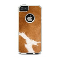 The Real Brown Cow Coat Texture Apple iPhone 5-5s Otterbox Commuter Case Skin Set
