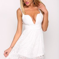 HelloMolly | Porcelain Playsuit White
