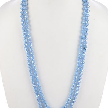 Zircon Glass Bead Extra Long Necklace