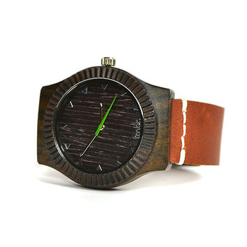 Christmas Gift Mens Wooden Watch - Womens Real Wood Watch - Sandalwood Unisex Watch- ARBR-SN