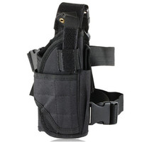Outdoor Canvas Pistol Gun Holster (Black)