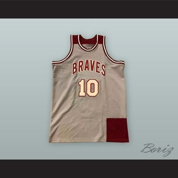 Earl Monroe 10 John Bartram High School Braves Basketball Jersey