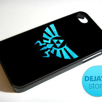 Eagle Triforce Blue Legend of Zelda iPhone 4 / 4S Case