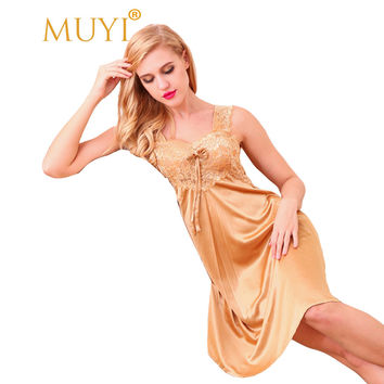 Sexy Sleepwear Women Lace Nightgowns Vintage Nightwear Cosy Night Dress Plus Size Nighties for Women Summer Sleeveless Dress Hot