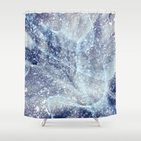 Winter pattern Shower Curtain by Tanja Riedel