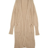 Longline Open Front Cardigan with Twin Pockets