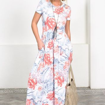 Blooming Sea Jane Maxi Dress