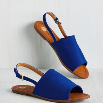 Two Steps Slingback Sandal in Cobalt