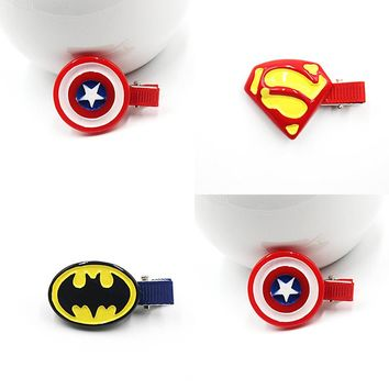 Superman Batman Captain America Hairpins Hair Ornaments Hair Jewelry Children Hair Accessories Girls Hair Clip Kids Barrettes