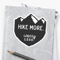 'Hike More Art' Sticker by alitmcgary