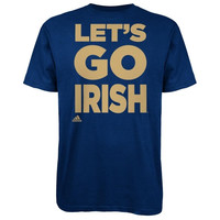 adidas Notre Dame Fighting Irish Navy Blue Let's Go T-Shirt