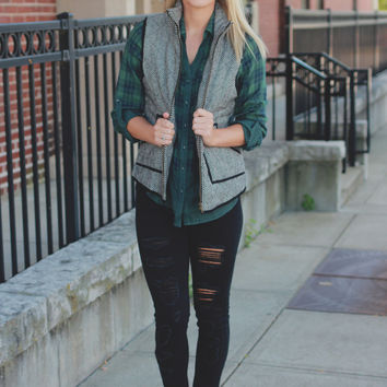 Must-Have Herringbone Vest - Black