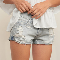 Low Rise Denim Shorts 2""