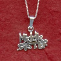 Sterling Silver MIDDLE SISTER Necklace