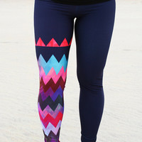 LEGGING - GILGO Chevron' Style Legging for SURF,  Yoga, Running, Biking, sup, kitesurf, wakeboard